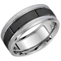 (Wholesale)Tungsten Carbide Horizontal Groove Ring - TG3893