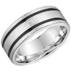 (Wholesale)Tungsten Carbide Double Groove Ring - TG3902