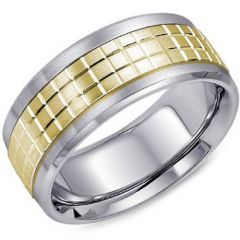 (Wholesale)Tungsten Carbide Horizontal & Vertical Groove Ring -