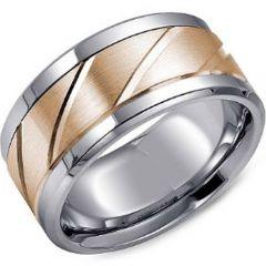 (Wholesale)Tungsten Carbide Horizontal & Diagonal Groove Ring-39