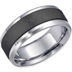 (Wholesale)Tungsten Carbide Beveled Edges Ring - TG3912