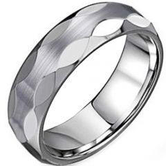 (Wholesale)Tungsten Carbide Faceted Ring - TG3921