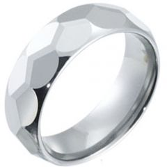(Wholesale)Tungsten Carbide Faceted Ring - TG3934