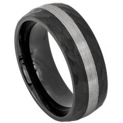 (Wholesale)Tungsten Carbide Hammered Ring - TG3960