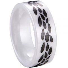 (Wholesale)White Ceramic Ring - TG3969