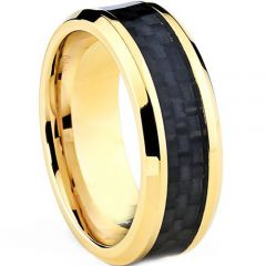 (Wholesale)Tungsten Carbide Ring With Carbon Fiber-TG4018