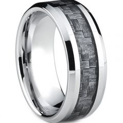 (Wholesale)Tungsten Carbide Ring With Carbon Fiber-TG4023