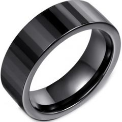 (Wholesale)Tungsten Carbide Faceted Ring - TG4071