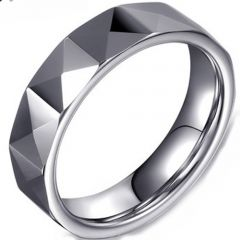 (Wholesale)Tungsten Carbide Faceted Ring - TG4077