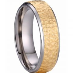 (Wholesale)Tungsten Carbide Hammered Ring - TG4101AA