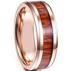 (Wholesale)Tungsten Carbide Wood Ring - TG4114