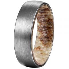 (Wholesale)Tungsten Carbide Deer Antler Ring - TG4186
