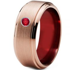 (Wholesale)Tungsten Carbide Ring With Created Ruby - TG4254