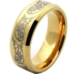 (Wholesale)Tungsten Carbide Beveled Edges Ring - TG4409AA