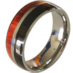 (Wholesale)Tungsten Carbide Wood Ring - TG4413