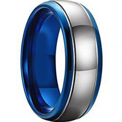 (Wholesale)Tungsten Carbide Double Groove Ring - TG4451AA