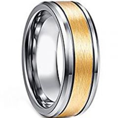 (Wholesale)Tungsten Carbide Double Groove Ring - TG4605