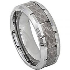 (Wholesale)Tungsten Carbide Hammered Ring - TG4710AA