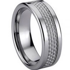 (Wholesale)Tungsten Carbide Ring With Carbon Fiber - TG719