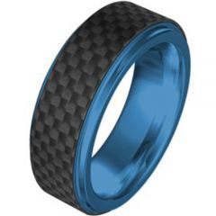 (Wholesale)Tungsten Carbide Ring With Carbon Fiber - TG736