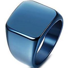 (Wholesale)Tungsten Carbide Signet Ring - TG786AA