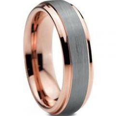 (Wholesale)Tungsten Carbide Step Edges Ring - TG806AA