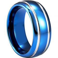 (Wholesale)Tungsten Carbide Double Groove Ring - TG920AA