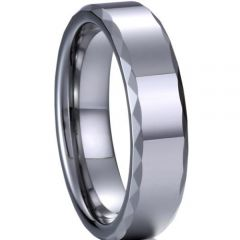 (Wholesale)Tungsten Carbide Faceted Ring - TG3084A