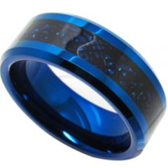 (Wholesale)Tungsten Carbide Beveled Edges Dragon Ring-TG4156