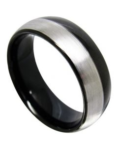 (Wholesale)Tungsten Carbide Dome Ring - TG4361