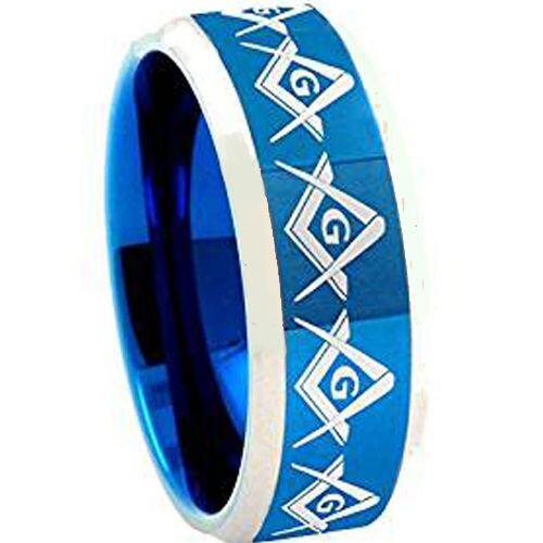 (Wholesale)Tungsten Carbide Masonic Ring - TG4599AA