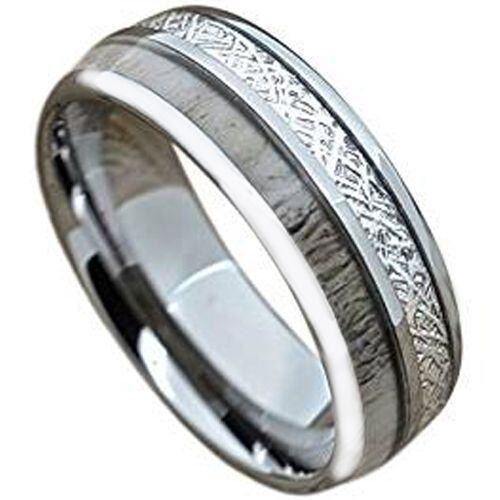 (Wholesale)Tungsten Carbide Antler Imitate Meteorite Ring-1820AA