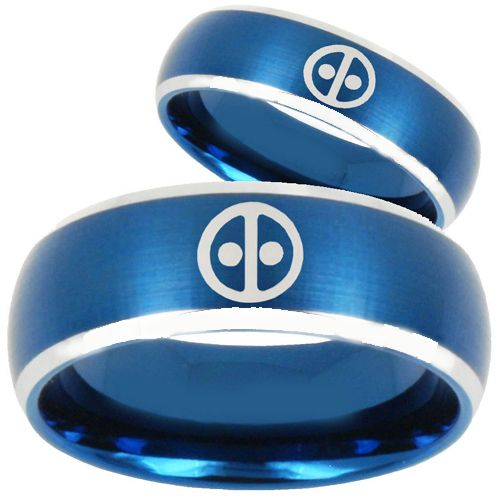 (Wholesale)Tungsten Carbide DeadPool Ring - TG253