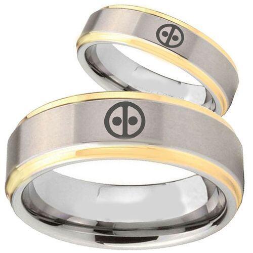 (Wholesale)Tungsten Carbide DeadPool Ring  - TG2833
