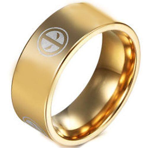 (Wholesale)Tungsten Carbide DeadPool Pipe Cut Ring - TG3261