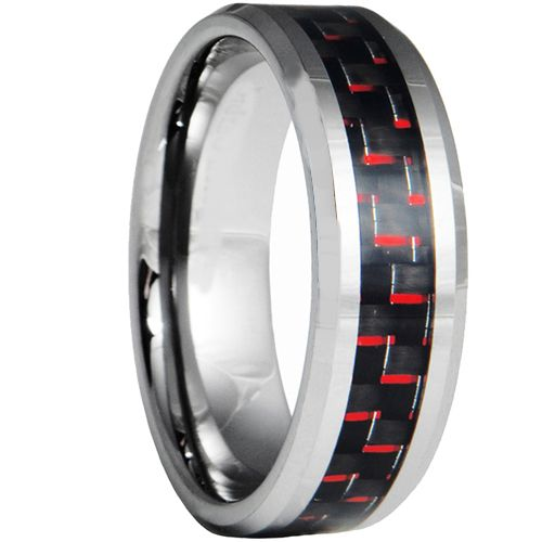 (Wholesale)Tungsten Carbide Ring With Carbon Fiber - TG3699