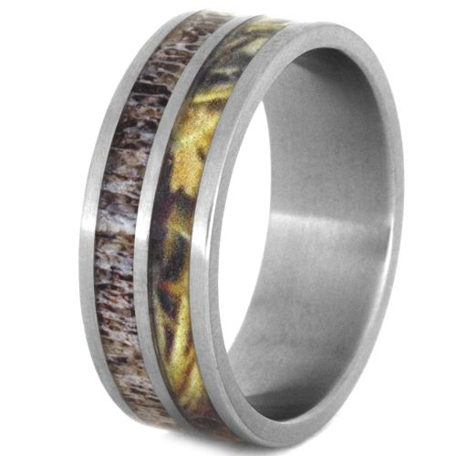 (Wholesale)Tungsten Carbide Deer Antler Camo Ring - TG3929