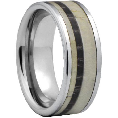 (Wholesale)Tungsten Carbide Deer Antler Camo Ring - TG4477
