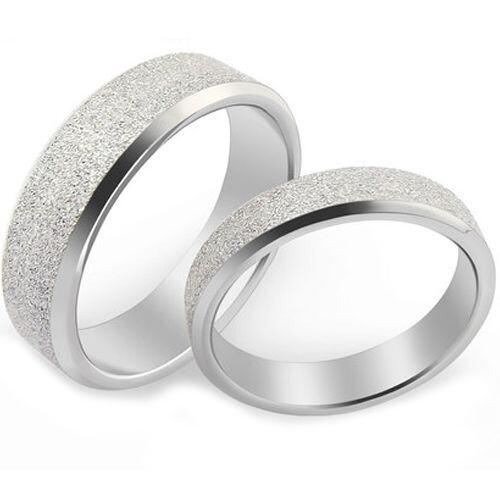 (Wholesale)Tungsten Carbide Sandblasted Ring - TG4589
