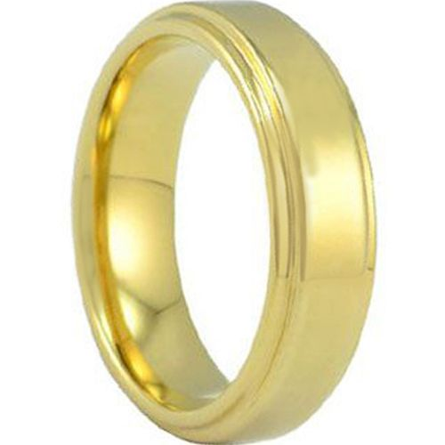 (Wholesale)Tungsten Carbide Step Edges Ring - TG686A
