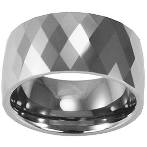 (Wholesale)Tungsten Carbide Faceted Ring - TG152A
