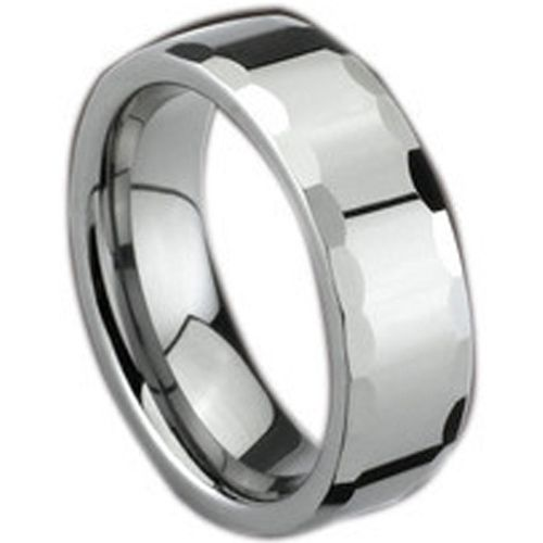 (Wholesale)Tungsten Carbide Faceted Ring - TG1677
