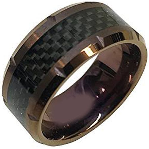 (Wholesale)Tungsten Carbide Ring With Carbon Fiber-TG2033