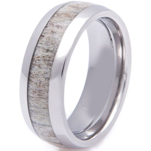 (Wholesale)Tungsten Carbide Deer Antler Ring - TG2257A