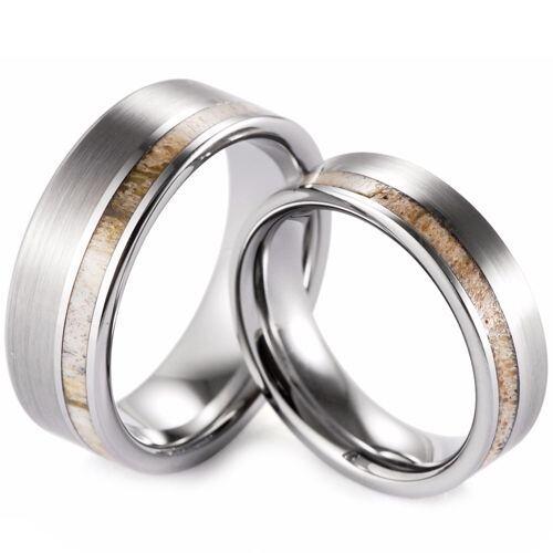 (Wholesale)Tungsten Carbide Deer Antler Ring - TG3008A