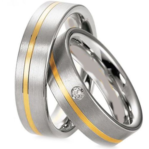 (Wholesale)Tungsten Carbide Offset Groove Ring  - TG3081