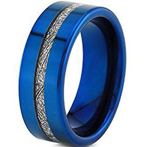 (Wholesale)Tungsten Carbide Imitate Meteorite Ring - TG3961AA