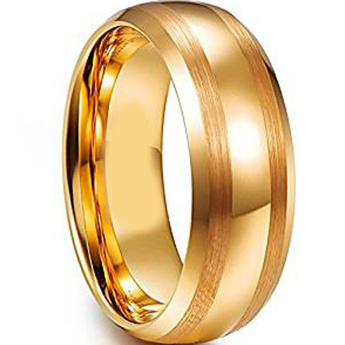 (Wholesale)Tungsten Carbide Double Line Ring - TG4608