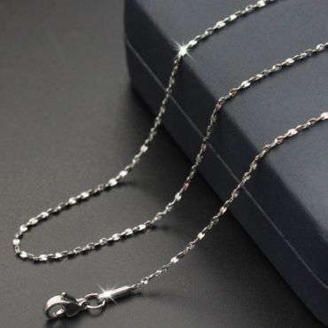 (Wholesale)316 Stainless Steel 1.3mm Chain Necklace - SJ8