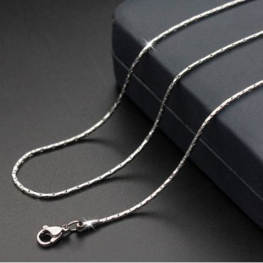 (Wholesale)316 Stainless Steel 1.2mm Chain Necklace - SJ1